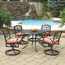 home styles biscayne rust bronze 9 piece cast aluminum outdoor