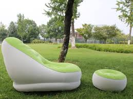 Inflatable Chair And Ottoman by Inflatable Air Mattress Chair Couch Lounger Recliner Sofa Bed Air