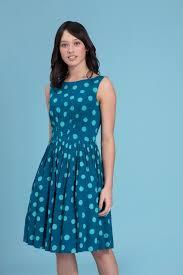 abigail green polka dot dress with full skirt emily and fin