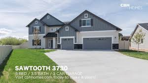 3 Door Garage by Cbh Homes Sawtooth 3730 5 Bed 3 5 Bath 3 Car Garage Youtube