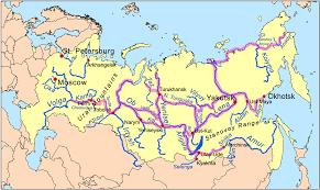 Russia Map Russia Overview Map Of Russian Long Distance River Regular
