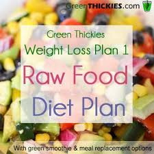 green thickies healthy meal plans for weight loss 1 raw food diet