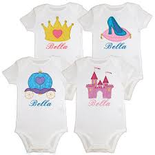 personalized baby birthday princess onesie or shirt