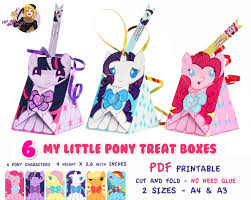 My Little Pony Party Decorations My Little Pony Treat Box My Little Pony Party Pony Birthday