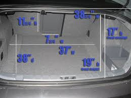 bmw 328i length trunk dimensions