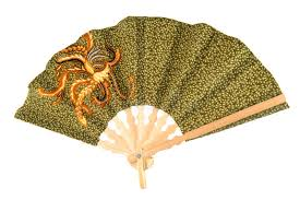 handheld fan batik held fan stock photo image of culture isolated 12687630