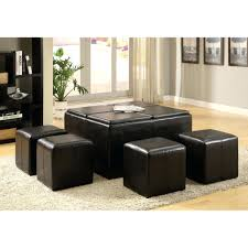 Cocktail Tables With Seating Ottomans Storage Ottoman Coffee Table Hide A Seat Chair And Hide