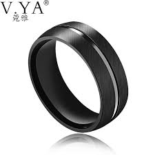 stainless steel mens rings v ya fashion stainless steel men rings 2017 luxury brand simlple