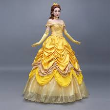 Ball Gown Halloween Costume Wholesale 100 Luxury Belle Princess Cartoon Ball Gown