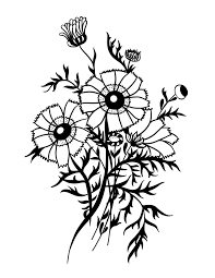 flower page printable coloring sheets wildflower bouquet