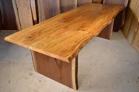 Maple Table Spalted Curly Maple Table With Walnut Slab Base By Dumond U0027s
