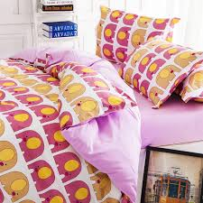 Notre Dame Bedding Sets New Pink Elephant King Queen Full Size Bedding Set Kids Baby