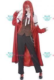 Halloween Butler Costume Black Butler Grell Sutcliff Cosplay Costume Sale