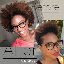 tapered natural hairstyles short tapered cut for natural hair before and after