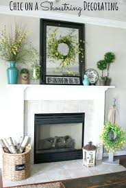 ideas decorating fireplace mantel photo decor design tv above