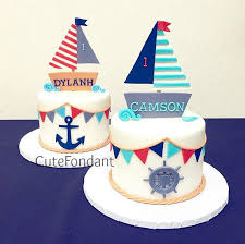 sailboat cake topper sailboat fondant cake topper and set nautical party