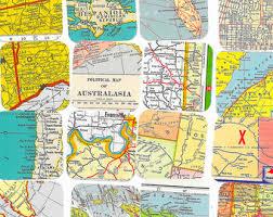 atlas road map road map etsy