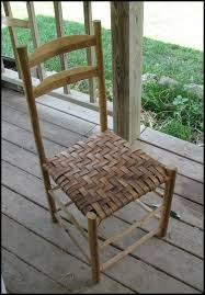 rustic or primitive style split oak chair the of the