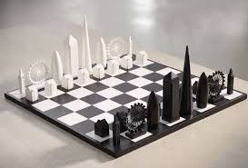 New York Travel Chess Set images Iconic architecture represents pieces of the skyline chess set jpg