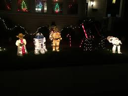 a house in my neighborhood as wars christmas decorations