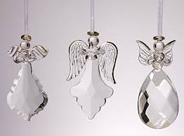 faith ornaments with gold accents set of