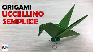 origami gabbiano origami uccello semplice