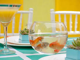 fish bowl centerpieces 25 dining table centerpiece ideas