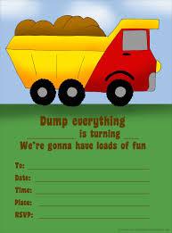 Birthday Invitation Card Design For Kids Birthday Invitation Template Trucks And Cars Free