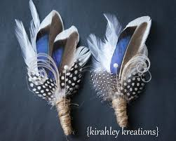 blue boutonniere thandion rustic something blue mallard feather outdoor wedding
