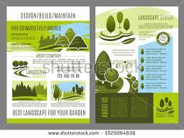 zoo brochure template landscape design brochure template landscaping build stock vector