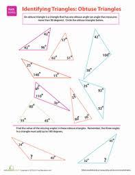 identify triangles worksheet worksheets