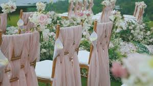 wedding flowers for guests wedding scenery in the open air bouquets of flowers the invited