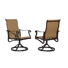 Swivel Rocker Patio Dining Sets Shop Allen Roth Safford 2 Count Brown Aluminum Swivel Rocker