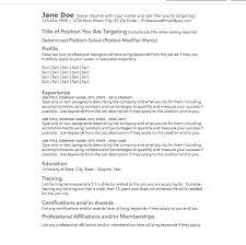 Ats Resume Template Career Document Store Job Search Superhero