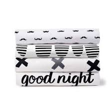 Black And White Crib Bedding Set Coveralls And Jumpsuits Cloud Island Target