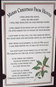merry christmas from heaven crafty design christmas from heaven poem ornament tom brokaw book