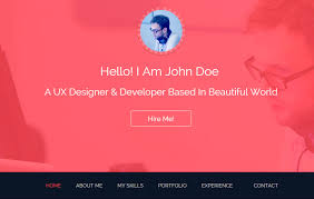 Resume Template Website Webthemez Com Wp Content Uploads 2015 04 John Boot