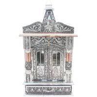 shilpi handcrafted wall mounted temple and wall shelf in sheesham pooja mandir buy wooden pooja temple at low prices in india