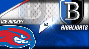 bentley university athletics logo ice hockey umass lowell vs bentley youtube