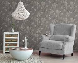 rasch wallpaper rasch wallpaper florentine floral charcoal neutral 449242