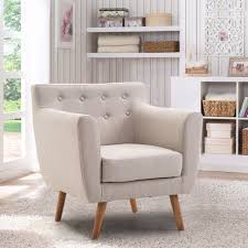 upholstered accent chairs living room giantex living room arm chair tufted back fabric upholstered accent