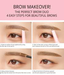 How To Pencil Eyebrows 3ce Studio Coloring Brow Pencil U0026 Mascara Stylenanda