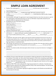 7 simple loan agreement pdf park attendant