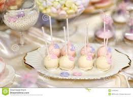 wedding cake pops in pink and purple stock image image 37942461