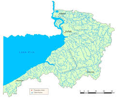 Map Of Rivers Niagara River Lake Erie Watershed Map Nys Dept Of