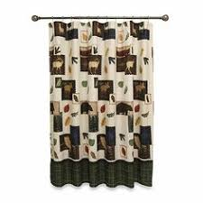 Bed Bath And Beyond Pueblo Mountain Lodge 70 Inch W X 72 Inch L Shower Curtain Elk And House