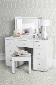 bureau verre blanc grande coiffeuse bureau en verre blanc valeria