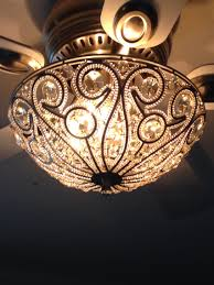Flush Ceiling Light Fixtures Tired Of The Boring Ceiling Fan Light Kits Buy A Sparkly Flush