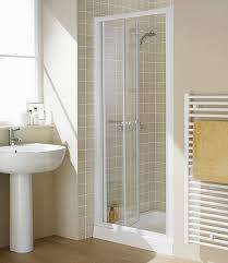 700mm Shower Door 700mm Semi Frameless Bi Fold Shower Door White