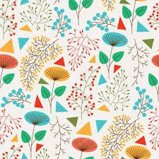 seamless pattern with cute plants u2014 stock vector marmarto 87630354